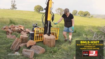 Bullmax 30 Ton Log Splitter - Vertical Operation